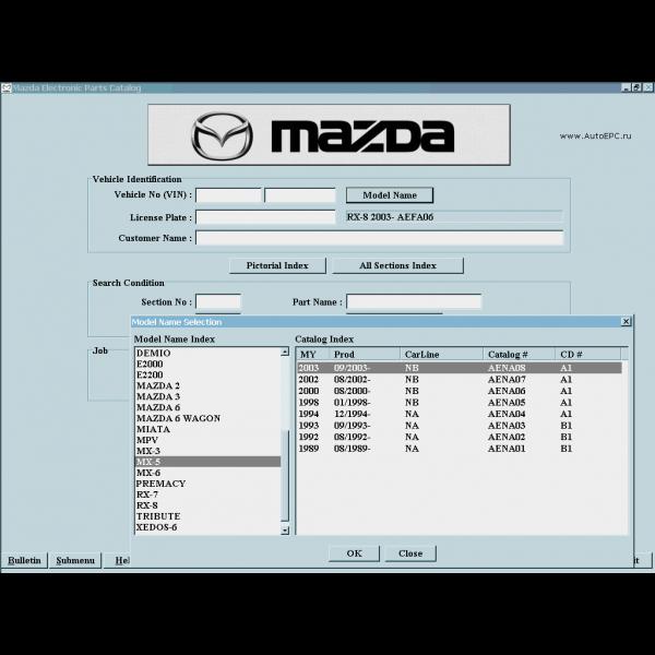 افزار کاتالوگ شماره فنی قطعات مزدا mazda epc 1 600x600 - نرم افزار پارت کاتالوگ شماره فنی قطعات یدکی مزدا Mazda EPC
